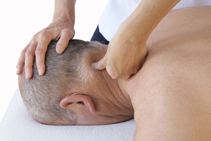 Applying pressure to posterior cervical
